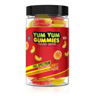 Yum Yum Gummies - CBD Full Spectrum Peach Rings - 3500mg