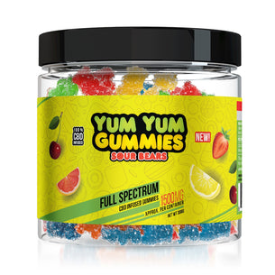 Yum Yum Gummies - CBD Full Spectrum Sour Bears - 1500mg