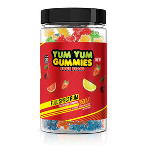 Yum Yum Gummies - CBD Full Spectrum Sour Bears - 3500mg