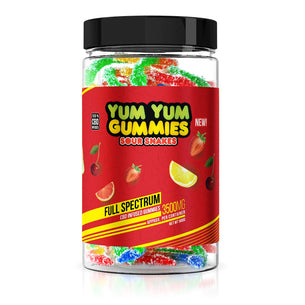 Yum Yum Gummies - CBD Full Spectrum Sour Snakes - 3500mg