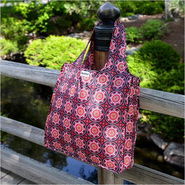 Medium reusable tote bag in Kayla pattern