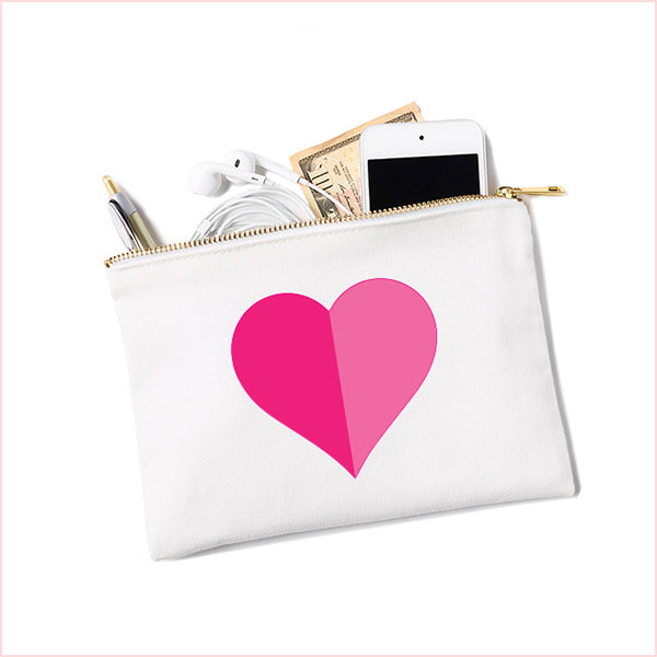Canvas Pouch Heart