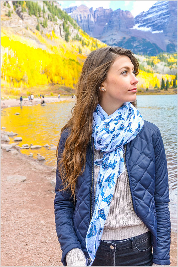 Monogram Fall Scarf