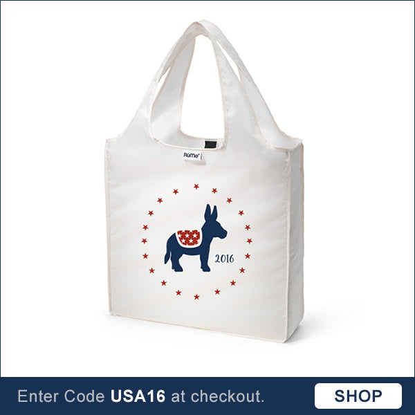 Donkey reusable tote bag Election 2016