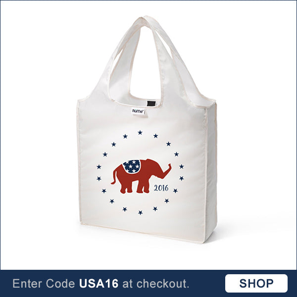 Elephant reusable tote bag Election 2016