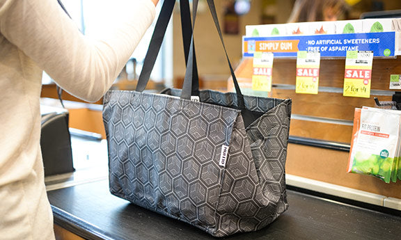 Expandable Pop-Top Grocery Tote