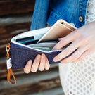 Phone Clutch - Heather Denim