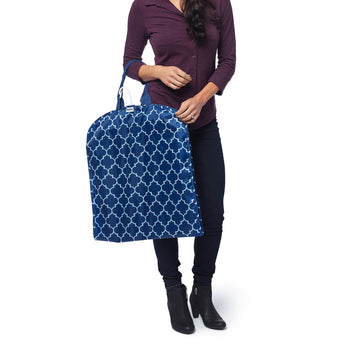 Streamline Garment Bag - Navy Downing