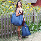 Tote Matching Set - Heather Denim