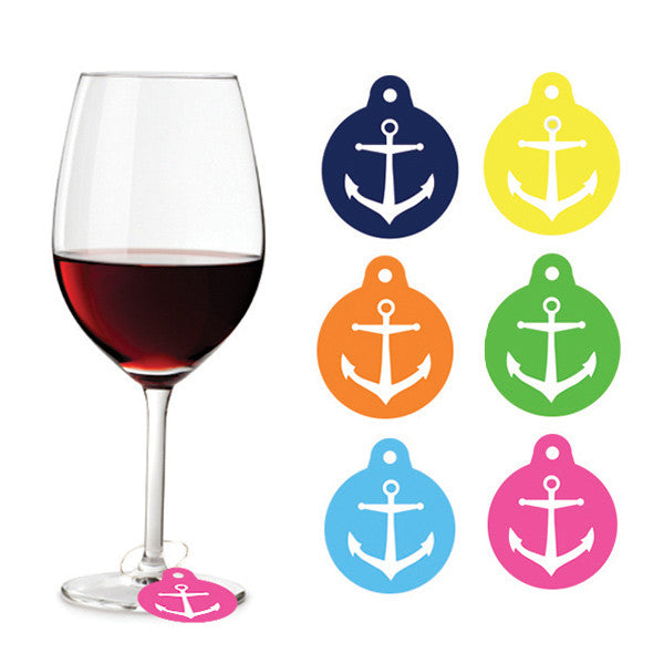 Wine Charms (Set of 6) / Anchor