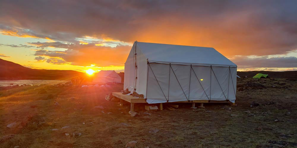 Glamping Tent Sunset