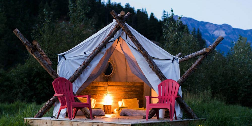 Glamping Tent by Mountains