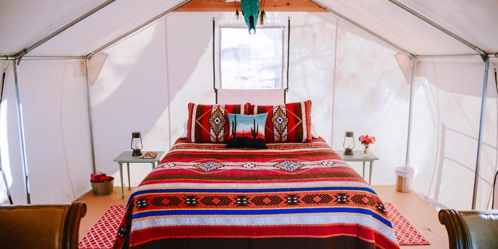 Glamping Tent with Bedand Decorated