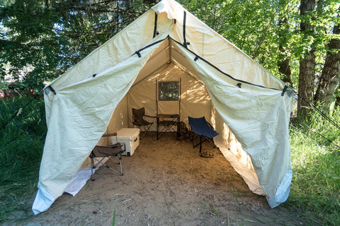 A collection of images from another happy Wall Tent Shop customer! Here is what they had to say  Hey guys just wanted to share some pics of my 12x14 wall ... & Canvas Tent u0026 Tent Stove Testimonials