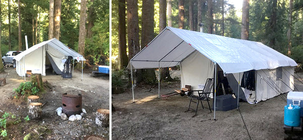 Here is some pictures from fish c& in a old growth forest on the west coast Vancouver island.  & Canvas Tent u0026 Tent Stove Testimonials