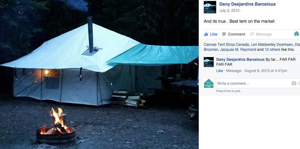 And itu0027s true- Best tent on the market.  & Canvas Tent u0026 Tent Stove Testimonials