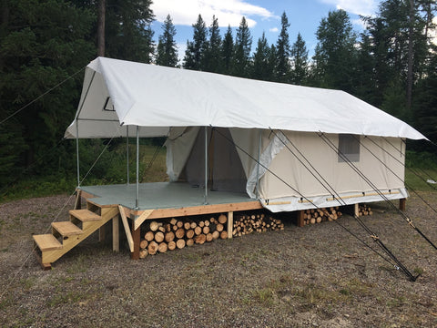 Canvas tent tent stove testimonials for Wall tent idaho