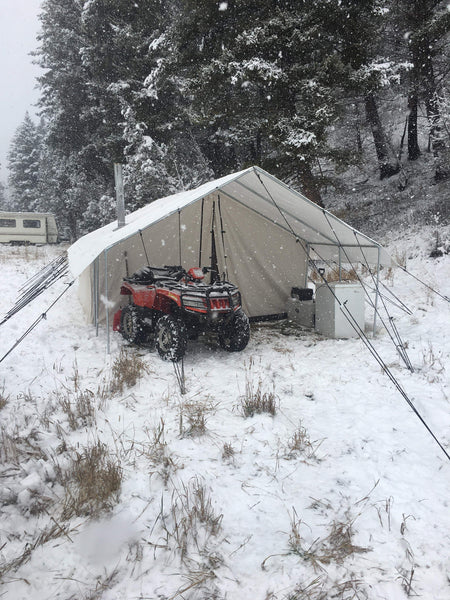 Canvas Winter Tents with Frame, Fly, and Stove