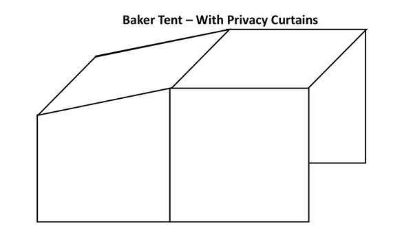 Baker Tent - Canvas - With Privacy Curtains