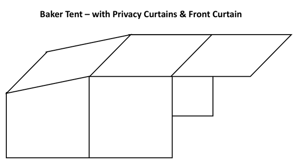 Baker Tent - Canvas - With Privacy Curtains & Front Curtain
