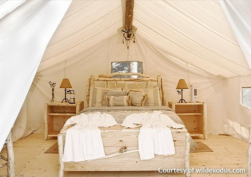 Glamping Tent on Wood Platform