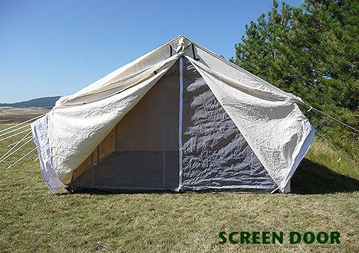 Wilderness Canvas Wall Tent Package - Tent, Fly, Stove, & Angle Kit