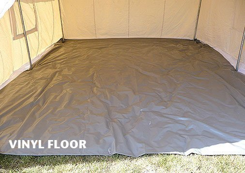 Wilderness Canvas Wall Tent - Canvas Wall Tent - Vinyl Floor for Canvas Wall Tent
