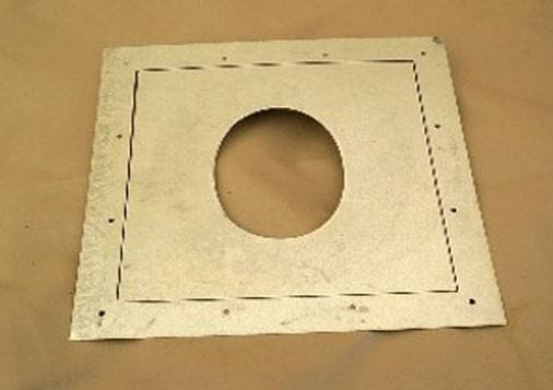 Sheet Metal Stove Pipe Wall Plate