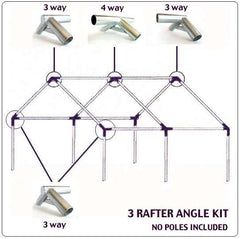 Tent Accessories - 3 Rafter Angle Kit For Extended Fly, Porch Or Cook Shack