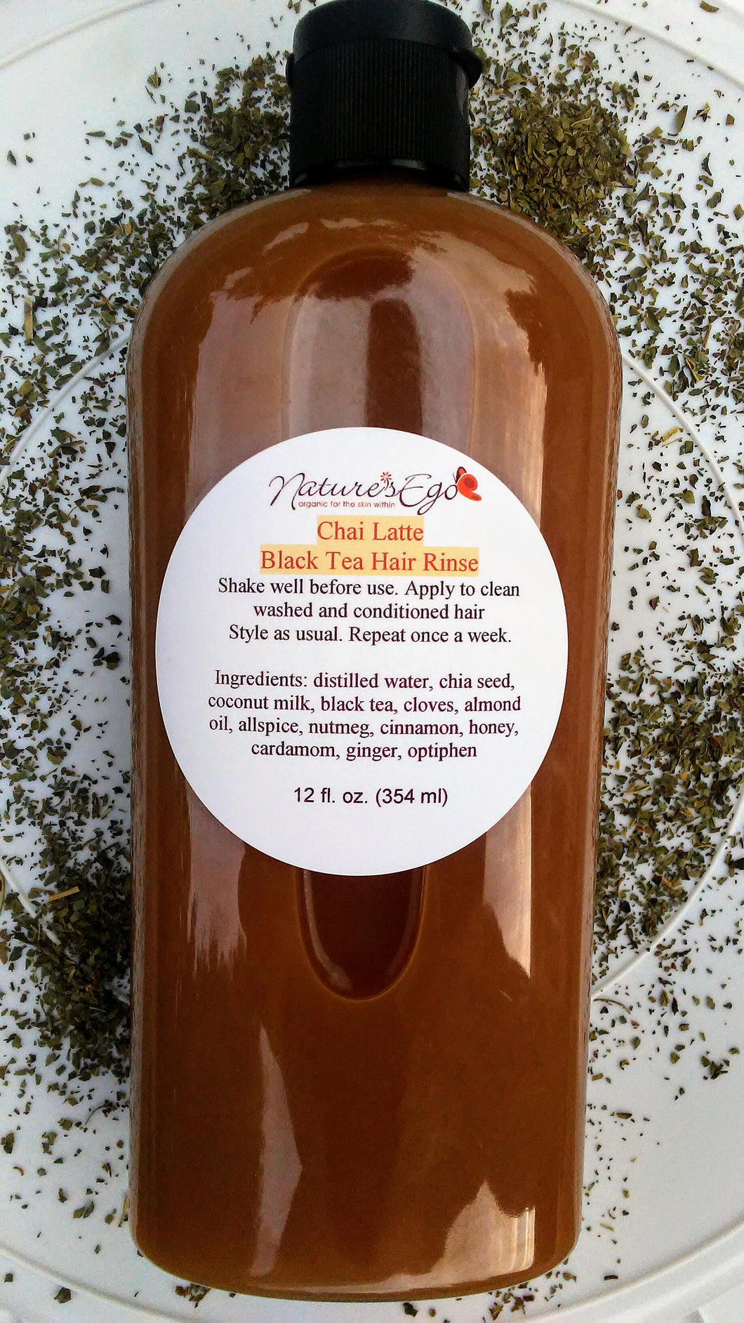 Chai Latte Black Tea Hair Rinse (reduce hairfall, shine, hair growth, dht blocker, stimulant)
