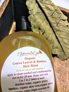 Organic Guava Leaves & Bamboo Hair Rinse (hair growth, silica and vitamin c, hair treatment, hair loss)