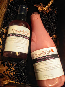 Fermented Black Rice Water Spray/Black Rice Water Liquid + Oil Moisturizer
