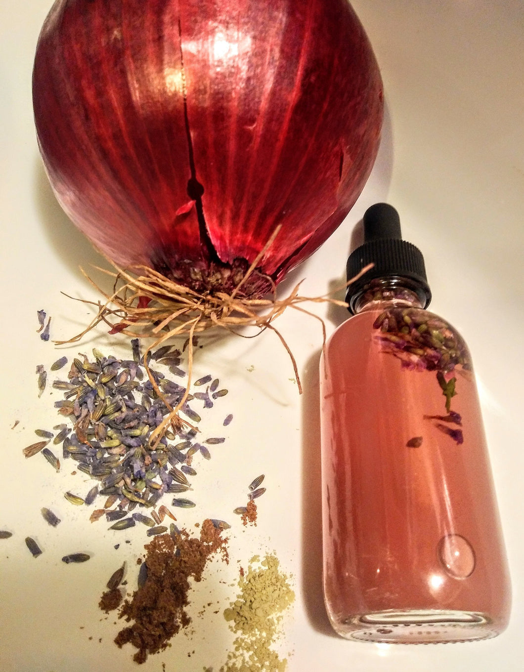 Organic Red Onion Drops (hair loss, edges, bald spots, alopecia areata)