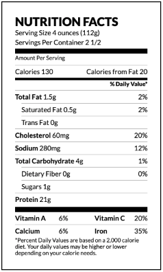 New England Medley nutrition facts