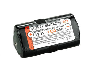 EagleTac R27 11.1V 3x18650 battery 2500mAh cell MX30L3R - Bright Nite