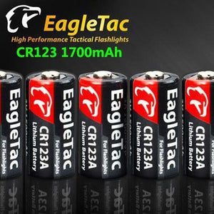 EagleTac CR123A 1700mAh 10 Pack - Bright Nite