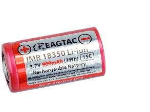 Eagtac 3.7V 18350 800mAh Protected Battery (10A discharge) - Bright Nite