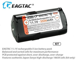 EagTac R38 EAGTAC 11.1V 3x18650 battery pack 3500mAh - Bright Nite