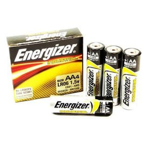 Energizer AA 1.5v Industrial Professional Alkaline Batteries 4 Pack - Bright Nite