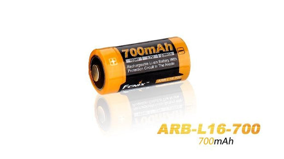 Fenix ARB-L16-700 16340-RCR123 3.7V Protected Lithium Ion Battery - Bright Nite