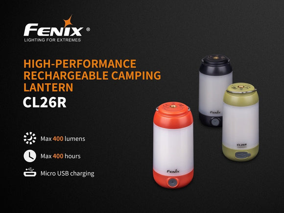 Fenix CL26R high-performance rechargeable camping lantern - Bright Nite