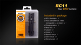 Fenix RC11 rechargeable flashlight - Bright Nite