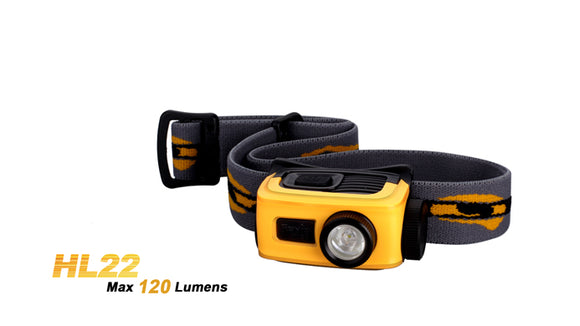 Fenix HL22 120 lumen LED headlamp
