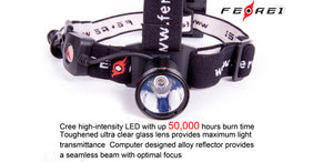Ferei HL08 220 lumen 3 x AA LED headlamp