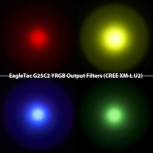 EagleTac G25C2 Filter Kit - Bright Nite