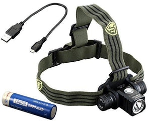 JETBeam HR25 USB Rechargeable Headlamp - 	1180 Lumens - Bright Nite