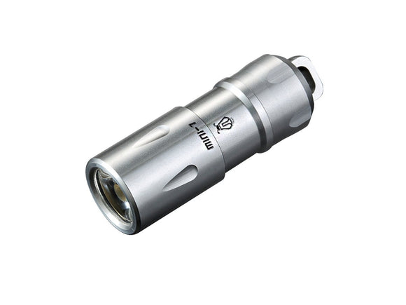 JETBeam MINI-1 Rechargeable Keyring Flashlight (Stainless Steel) - Bright Nite