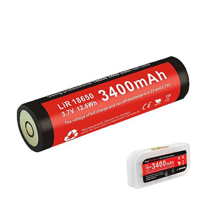 Klarus 18650 battery RS11,RS18,XT12,XT15,RS20,FL18 (Red) - Bright Nite