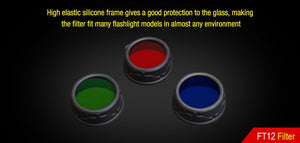 Klarus FT12 Red - Green - Blue Filter XT15 - XT12GT - Bright Nite