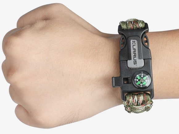 Klarus 5-in-1 Paracord Survival Bracelet Multi-Tool - Bright Nite